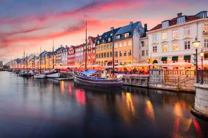 Copenhagen, Denmark on the Nyhavn Canal. by Sean Pavone