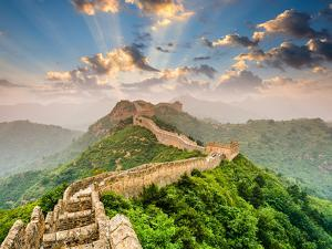 Great Wall of China at the Jinshanling Section by Sean Pavone