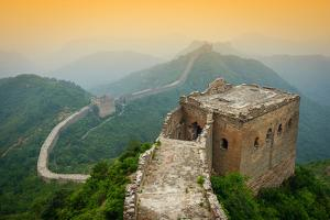 Great Wall of China. Unrestored Sections at Jinshanling by Sean Pavone