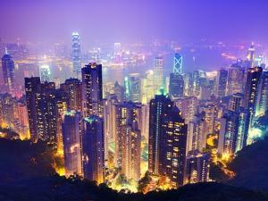 Hong Kong Skyline by Sean Pavone