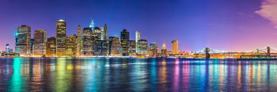 New York City Financial District Skyline across the East River