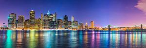 New York City Financial District Skyline across the East River by Sean Pavone
