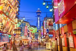 The Shinsekai District of Osaka, Japan by Sean Pavone