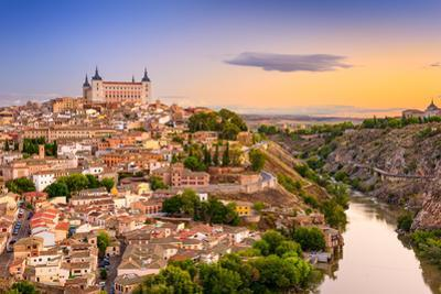 Toledo, Spain Old City over the Tagus River by Sean Pavone