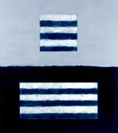 Landeline Blue, c.1999 by Sean Scully