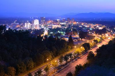 Asheville, North Carolina Skyline Nestled in the Blue Ridge Mountains. by SeanPavonePhoto
