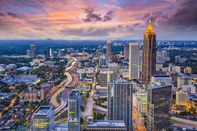 Atlanta, Georgia Downtown Aerial View. by SeanPavonePhoto