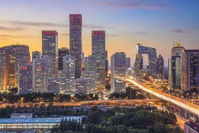 Beijing, China Skyline at the Central Business District. by SeanPavonePhoto