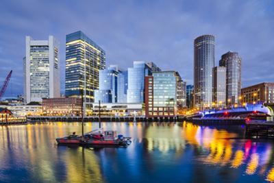 Boston, Massachusetts Downtown City Skyline. by SeanPavonePhoto