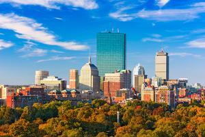 Boston, Massachusetts, USA Skyline over Boston Common. by SeanPavonePhoto