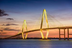 Charleston, South Carolina, USA at Arthur Ravenel Jr. Bridge. by SeanPavonePhoto