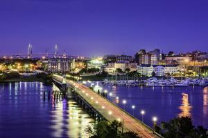 Charleston, South Carolina, USA Skyline over the Ashley River. by SeanPavonePhoto