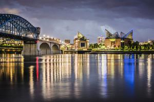 Chattanooga, Tennessee, USA Downtown across the Tennessee River. by SeanPavonePhoto