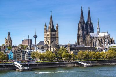Cologne, Germany Aerial View over the Rhine River. by SeanPavonePhoto