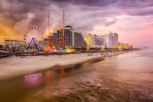 Daytona Beach, Florida, USA Beachfront Skyline. by SeanPavonePhoto