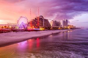Daytona Beach, Florida, USA Beachfront Skyline. by SeanPavonePhoto