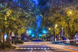 Downtown Athens, Georgia, USA Night Scene. by SeanPavonePhoto