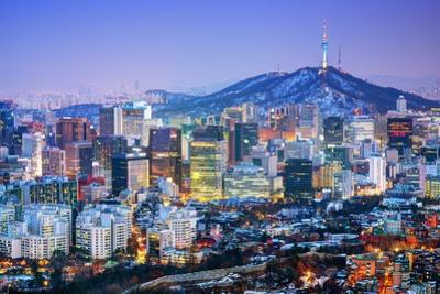 Downtown Cityscape of Seoul, South Korea by SeanPavonePhoto
