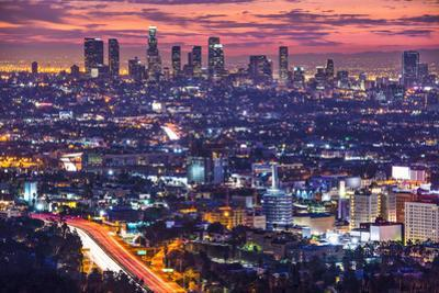 Downtown Los Angeles, California, USA Skyline at Dawn. by SeanPavonePhoto