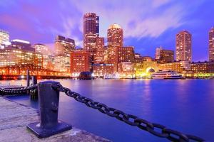 Financial District Of Boston, Massachusetts Viewed From Boston Harbor by SeanPavonePhoto