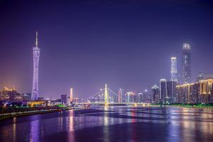 Guangzhou, China Skyline on the Pearl River. by SeanPavonePhoto