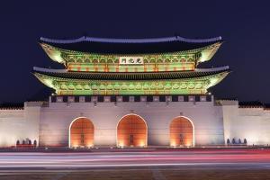 Gwanghwamun Gate at Geyongbokgung Palace in Seoul, South Korea. by SeanPavonePhoto