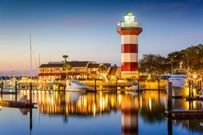 Hilton Head, South Carolina, USA Lighthouse at Twilight by SeanPavonePhoto