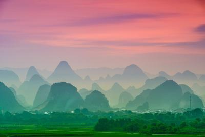 Karst Mountains of Guilin, China by SeanPavonePhoto