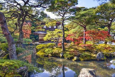 Kyoto, Japan Fall Foliage at Ginkaku-Ji Temple of the Silver Pavilion. by SeanPavonePhoto