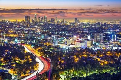 Los Angeles, California, USA Cityscape. by SeanPavonePhoto
