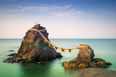 Meoto Iwa Rocks, Futami, Mie Prefecture, Japan. known in English as the Wedded Rocks, They are Co by SeanPavonePhoto