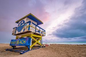 Miami Beach, Florida, USA Life Guard Tower. by SeanPavonePhoto