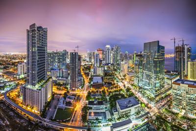 Miami, Florida Aerial View of Downtown. by SeanPavonePhoto