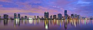 Miami, Florida Skyline at Biscayne Bay. by SeanPavonePhoto