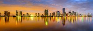 Miami, Florida, USA City Skyline Panorama. by SeanPavonePhoto