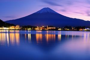Mount Fuji at Dusk near Lake Kawaguchi in Yamanashi Prefecture, Japan. by SeanPavonePhoto