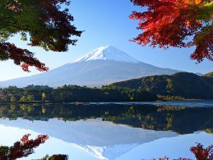 Mt. Fuji and Autumn Foliage at Lake Kawaguchi. by SeanPavonePhoto