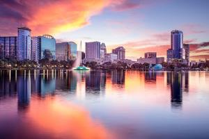 Orlando, Florida, USA Downtown City Skyline from Eola Park. by SeanPavonePhoto