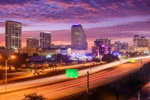 Orlando, Florida, USA Downtown Cityscape over the Highway. by SeanPavonePhoto