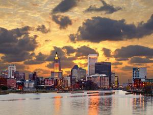 Providence Rhode Island Skyline. by SeanPavonePhoto