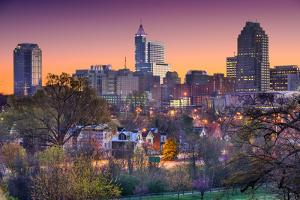 Raleigh, North Carolina, USA Skyline. by SeanPavonePhoto