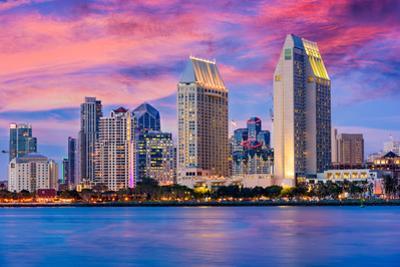San Diego, California, USA Downtown Skyline. by SeanPavonePhoto