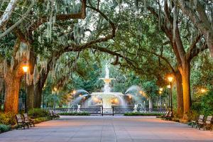 Savannah, Georgia, USA at Forsyth Park Fountain. by SeanPavonePhoto