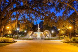 Savannah, Georgia, USA at Forsyth Park. by SeanPavonePhoto