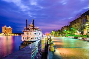 Savannah, Georgia, USA Riverfront. by SeanPavonePhoto