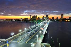 Skyline of St. Petersburg, Florida from the Pier. by SeanPavonePhoto
