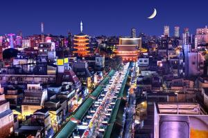 Skyline of the Asakusa District in Tokyo, Japan with Famed Temples. by SeanPavonePhoto