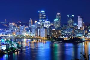 Skyscrapers in Downtown Pittsburgh, Pennsylvania, Usa. by SeanPavonePhoto
