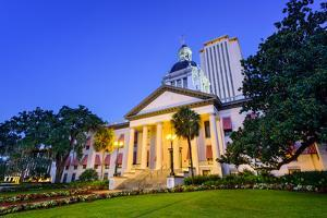 Tallahassee, Florida, USA at the Old and New Capitol Building. by SeanPavonePhoto