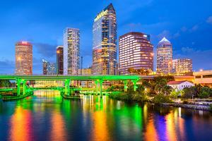 Tampa, Florida, USA Downtown City Skyline on the Hillsborough River. by SeanPavonePhoto